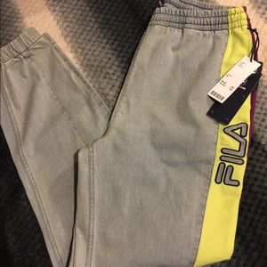 Fila denim joggers
